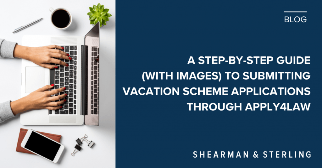 A step-by-step guide to applying for vacation schemes through apply4law