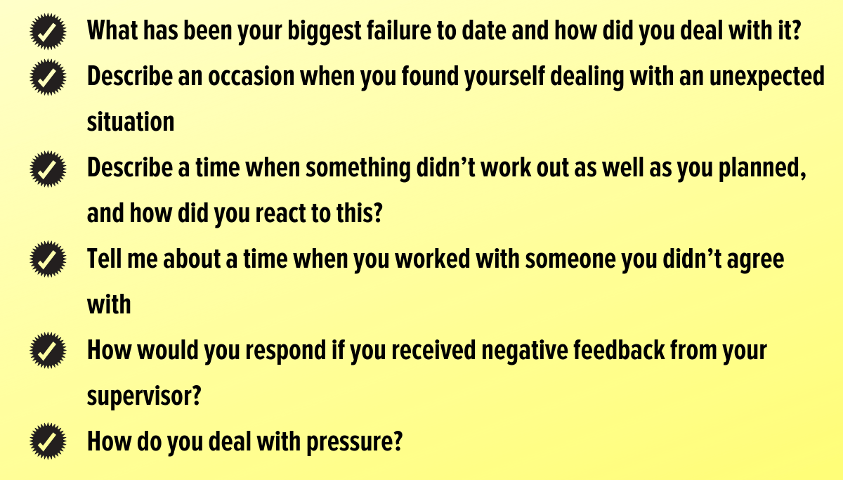 Resilience Interview Questions