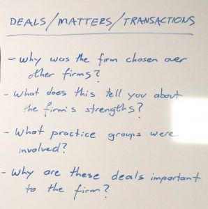 Deals, Matters, Transactions