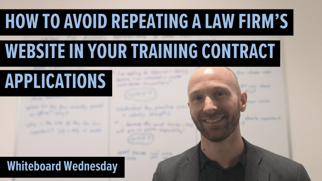 How to avoid repeating a law firm's website in your training contract applications